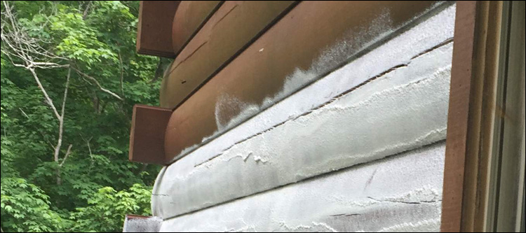 Log Home Chemical Stripping